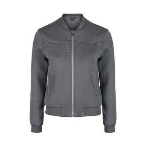 Topshop Punch-Textured Bomber Jacket